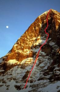 Metanoia, Północna ściana Eigeru. Foto: Jon Krakauer